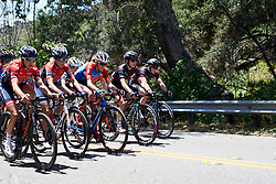 The bunch all back together at Amgen Tour of California Women's Race empowered with SRAM 2019 - Stage 1, a 96.5 km road race in Ventura, United States on May 16, 2019. Photo by Sean Robinson/velofocus.com
