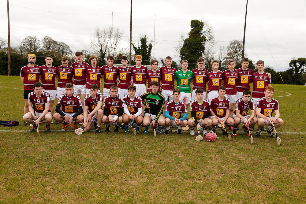 Leinster MHC at Dunganny, Trim, 12th March 2016<br /> Meath vs Westmeath<br /> Westmeath Team<br /> Photo: David Mullen /www.cyberimages.net / 2016