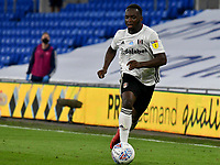 Football - 2019 / 2020 Championship - Play-off semi-final - 1st leg - Cardiff City vs Fulham<br /> <br /> Neeskens Kebano of Fulham on the attack<br /> in a match played with no crowd due to Covid 19 coronavirus emergency regulations, in an almost empty ground, at the Cardiff City Stadium<br /> <br /> COLORSPORT/WINSTON BYNORTH