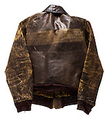 A-2 jacket that belonged to SSG Dave Roberts.  He completed 30 missions over occupied Europe from January to July, 1944.