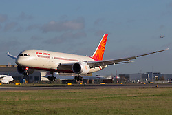 © under license to London News Pictures.<br />  FILE PICTURE: Air India Boeing 787 at London Heathrow.. Photo credit : IAN SCHOFIELD/LNP