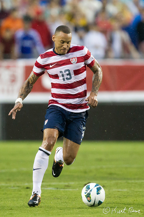 USA Men's National Team midfielder JERMAINE JONES (13) during the Antigua & Barbuda vs USA Men's National Team  semifinal round of 2014 FIFA World Cup qualifier at Raymond James Stadium in Tampa, Fl. .