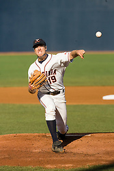 Virginia Cavaliers pitcher Pat McAnaney (19).  The Oregon State Beavers defeated the Virginia Cavaliers 5-3 in Game 6 of the NCAA World Series Charlottesville Regional held at Davenport Field in Charlottesville, VA on June 4, 2007.