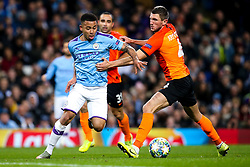 Gabriel Jesus of Manchester City takes on Serhiy Kryvtsov of Shakhtar Donetsk - Mandatory by-line: Robbie Stephenson/JMP - 26/11/2019 - FOOTBALL - Etihad Stadium - Manchester, England - Manchester City v Shakhtar Donetsk - UEFA Champions League Group Stage