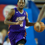 Iowa Energy Guard Kalin Lucas (6) dribbles the ball up court in the first half of a NBA D-league regular season basketball game between the Delaware 87ers (76ers) and the Iowa Energy Tuesday, Jan 14, 2014 at The Bob Carpenter Sports Convocation Center, Newark, DE<br /> <br /> Kalin Lucas finished the game with 18 points.