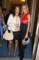 "Left to right, ARABELLA MUSGRAVE and LADY ELOISE ANSON at a party hosted by the Italian Ambassador to celebrate the forthcoming ""Made in Italy"" event at Harrods.  The party was held at the Italian Embasy, 4 Grosvenor Square, London on 6th September 2004."