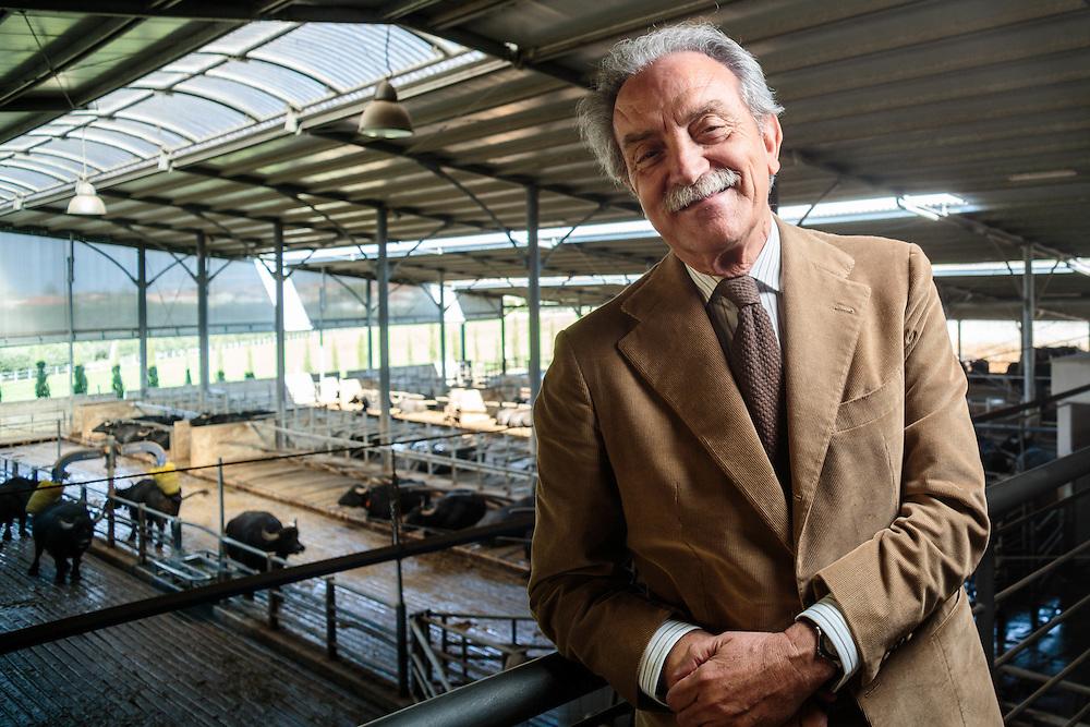 30 OCT 2014 - Rettifilio-Vannullo, Capaccio Scalo  (SA) - &quot;Tenuta Vannulo<br /> Azienda Agricola Biologica&quot;. Allevamento di bufale.  Antonio Palmieri, fondatore e titolare.