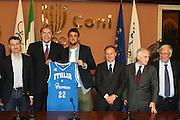 ROMA 12 MAGGIO 2010<br /> BASKET FIP<br /> CONFERENZA STAMPA BELINELLI E CUZZOLIN<br /> NELLA FOTO CUZZOLIN MENEGHIN BELINELLI PETRUCCI PAGNOZZI LAGUARDIA<br /> FOTO CIAMILLO