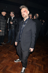 BOY GEORGE at the Universal Bacardi Brits' After Party At Soho House Pop-Up, 8 Victoria Embankment, London on 19th February 2014.