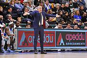 Eurocup 2015-2016 Last 32 Group N Dinamo Banco di Sardegna Sassari - Szolnoki Olaj <br /> GIOCATORE : Marco Calvani<br /> CATEGORIA : Allenatore Coach Mani<br /> SQUADRA : Dinamo Banco di Sardegna Sassari<br /> EVENTO : Eurocup 2015-2016 GARA : Dinamo Banco di Sardegna Sassari - Szolnoki Olaj <br /> DATA : 03/02/2016 <br /> SPORT : Pallacanestro <br /> AUTORE : Agenzia Ciamillo-Castoria/C.Atzori
