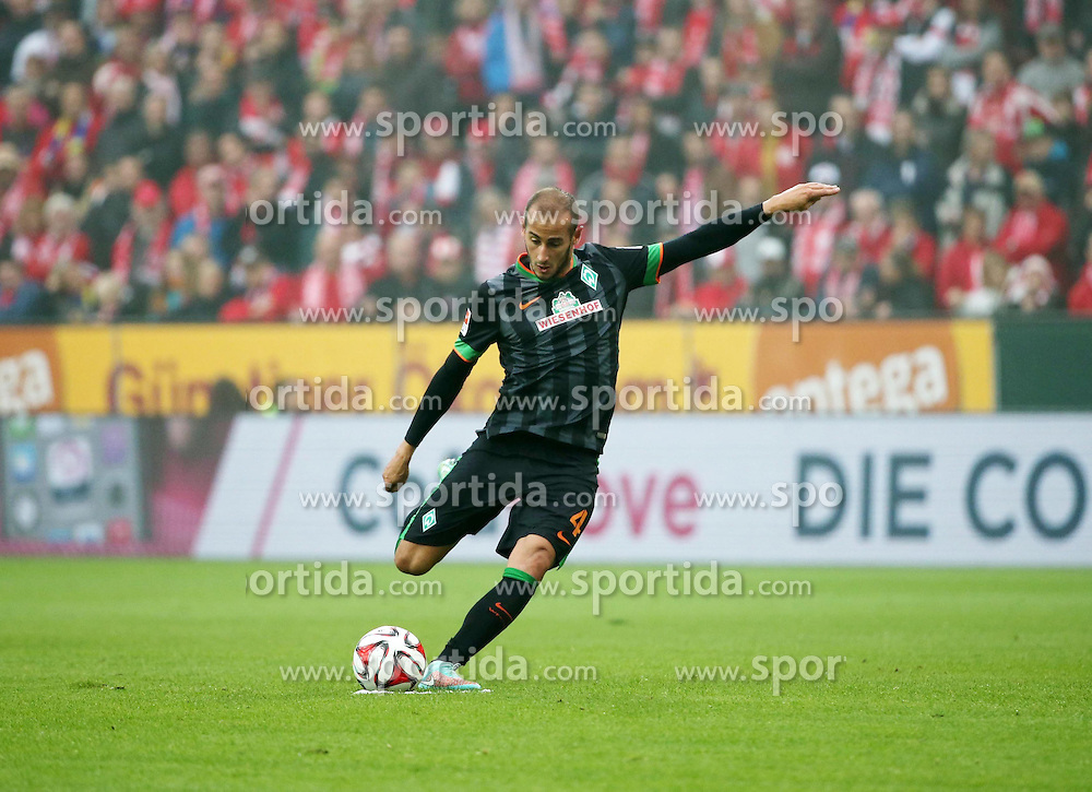 01.11.2014, Coface Arena, Mainz, GER, 1. FBL, 1. FSV Mainz 05 vs SV Werder Bremen, 10. Runde, im Bild v.l.: Alejandro Galvez (Bremen) // during the German Bundesliga 10th round match between 1. FSV Mainz 05 and SV Werder Bremen at the Coface Arena in Mainz, Germany on 2014/11/01. EXPA Pictures &copy; 2014, PhotoCredit: EXPA/ Eibner-Pressefoto/ Neurohr<br /> <br /> *****ATTENTION - OUT of GER*****