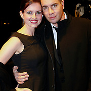 NLD/Amsterdam/20091121 - JFK Great men of the Year Gala 2009, Jeroen van Koningsbrugge en partner Mariel-Claire Witlox