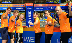 02-11-2013 ALGEMEEN: BVDGF NY MARATHON: NEW YORK <br /> Voorbereiding NY marathon 2013 in het Central Park / Bas, Ewoud, Leo, Tessel, Stephan en Jeroen. Doen jij volgend jaar ook mee?<br /> ©2013-WWW.FOTOHOOGENDOORN.NL