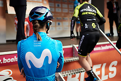 Waiting for sign on at Boels Ladies Tour 2019 - Stage 4, a 135.6 km road race from Arnhem to Nijmegen, Netherlands on September 7, 2019. Photo by Sean Robinson/velofocus.com