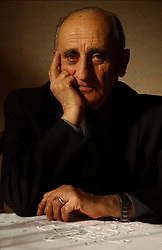 Portrait of Jewish Holocaust survivor Bernard Sauber.
