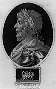 Antonius Pius, Emperor of Rome (86-161) 15th Roman Emperor 138-161, fourth of the Five Good Emperors.  Engraving, London, c1810.