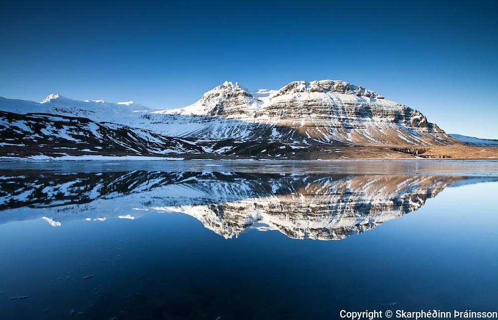 Mountain Mýrarhyrna in Grundarfjörður, Snæfellsnes west Iceland