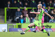 Forest Green Rovers Farrend Rawson(6) during the EFL Sky Bet League 2 match between Forest Green Rovers and Scunthorpe United at the New Lawn, Forest Green, United Kingdom on 7 December 2019.