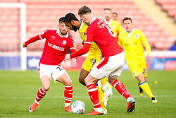 Stefan Payne of Bristol Rovers takes on Liam Lindsay of Barnsley - Mandatory by-line: Robbie Stephenson/JMP - 27/10/2018 - FOOTBALL - Oakwell Stadium - Barnsley, England - Barnsley v Bristol Rovers - Sky Bet League One