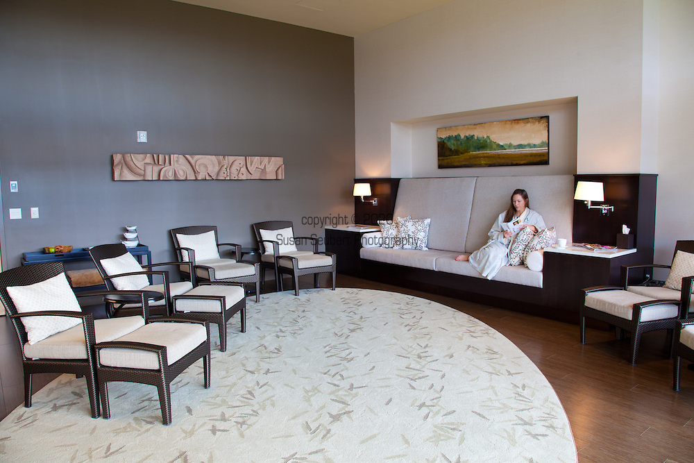 One of the relaxation rooms in the Spa at the Allison Inn in Newberg, Oregon, in the heart of Oregon Wine Country.
