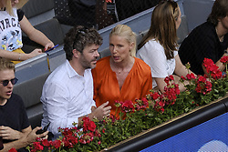 May 9, 2018 - Madrid, Spain - pablo heras casado and anne igartiburu during day five of the Mutua Madrid Open tennis tournament at the Caja Magica on May 9, 2018 in Madrid, Spain. (Credit Image: © Oscar Gonzalez/NurPhoto via ZUMA Press)