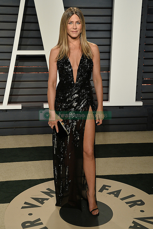 Actress Jennifer Aniston arrives at the Vanity Fair Oscar Party 2017 in Beverly Hills, California. 26 Feb 2017 Pictured: Jennifer Aniston. Photo credit: BITSY / MEGA TheMegaAgency.com +1 888 505 6342