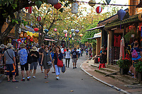 The streets of the old town of Hoi An, Vietnam