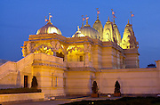 THE SHREE SWAMINARAYAN MANDIR -  HINDU TEMPLE - IN NEASDEN, NORTH LONDON.