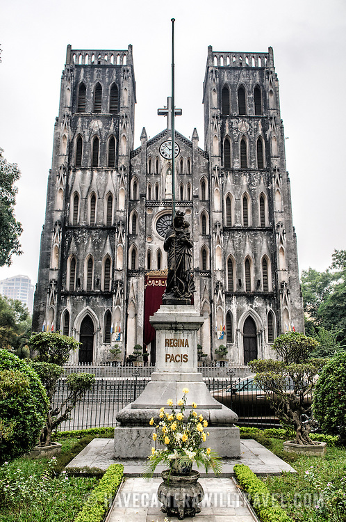 St. Joseph's Cathedral is a church on Nha Tho (Church) Street in the Hoan Kiem District of Hanoi, Vietnam. The late 19th-century Gothic Revival (Neo-Gothic style) church serves as the cathedral of the Roman Catholic Archdiocese of Hanoi to nearly 4 million Catholics in the country.