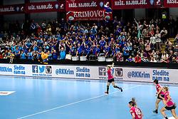 Tamara Mavsar of RK Krim Mercator celebrates during handball match between RK Krim Mercator and HC Podravka Vegeta in Group Matches of Women's EHF Champions League 2018/19, on November 3, 2018 in Kodeljevo, Ljubljana, Slovenia. Photo by Matic Klansek Velej / Sportida