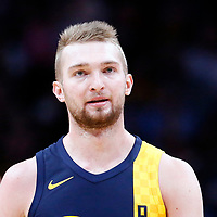 03 April 2018: Indiana Pacers center Domantas Sabonis (11) is seen during the Denver Nuggets 107-104 victory over the Indiana Pacers, at the Pepsi Center, Denver, Colorado, USA.
