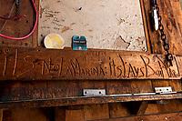 """Since 1944 """"it's all good"""" .... it's not a Marina; It's Fay's Boat Yard.  (Karen Bobotas/for New England Boating)"""