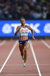 August 8, 2017 - London, England, United Kingdom - Shannon HYLTON, Great Britain, during 200 meter  heats in London at the 2017 IAAF World Championships athletics on August 8, 2017  (Credit Image: © Ulrik Pedersen/NurPhoto via ZUMA Press)