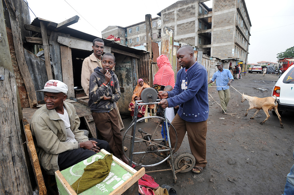 Somali refugees in the suburb of Eastleigh in Nairobi, Kenya 6/7/2008