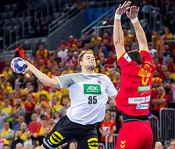 Paul Drux of Germany during during handball match between National teams of Germany and Macedonia on Day 5 in Preliminary Round of Men's EHF EURO 2018, on January 17, 2018 in Arena Zagreb, Zagreb, Croatia. Photo by Ziga Zupan / Sportida