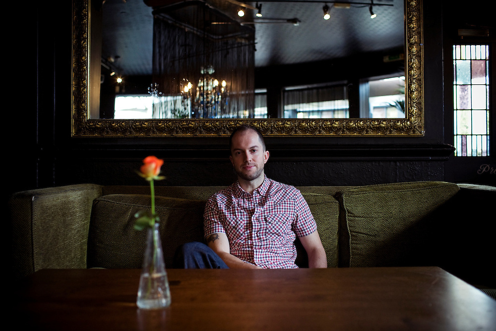 Vestal McIntyre, 36, an American author, photographed in London England, on Saturday Feb. 28, 2009.