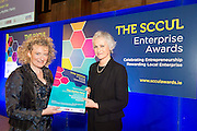 27/01/2014SCCUL Enterprise Award<br /> Social Enterprise <br /> Runner Up<br /> The Mythic Fairy<br /> <br /> Dolores Gavin was presented with her prize by Mary Redmond<br /> Prize is &euro;500 cash and a business profile worth &euro;500 in the special SCCUL Enterprise Awards supplement in the Galway Independent in March<br /> Dolores is the author of a series of bi-lingual ( English and Irish) children&rsquo;s mythological books and associated website www.themythicfairy.com<br /> Her published mythological children&rsquo;s books provide valuable life lessons regarding bullying and having courage. They deal with issues which children face on a daily basis and the first book Lorcan and the Whistle deals with teasing in the school yard.<br /> <br /> Photo:Andrew Downes