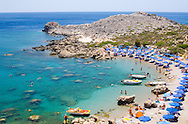 Ladiko or Anthony Quinn Bay, a rocky cove and beach south of Faliraki, Rhodes, Dodecanese Islands Greece