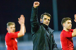 Brora Rangers manager Steven MacKay at the end. Morton 1 v 1 Brora Rangers, 3rd Round of the Scottish Cup played 23/11/2019 at Cappielow, Greenock.