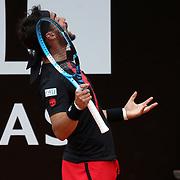 Roma 18/05/2018 Foro Italico <br /> Internazionali BNL d'Italia 2018<br /> singolare maschile Fabio Fognini urla dopo un punto perso nell'incontro con Rafael Nadal
