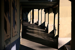 SWITZERLAND BERN 1MAR12 - Stone arcade walkway at Schifflaube in Bern Matte next to the Aare river, Switzerland.....jre/Photo by Jiri Rezac....© Jiri Rezac 2012