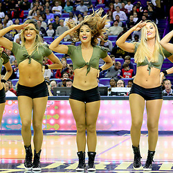 Nov 12, 2016; New Orleans, LA, USA;  The New Orleans Pelicans dance team performs in honor of veterans during the first half of a game against the Los Angeles Lakers at the Smoothie King Center. Mandatory Credit: Derick E. Hingle-USA TODAY Sports
