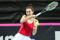 February 6, 2019 - Zielona Gora, Poland - Natalia Vikhlyantseva (RUS) during Tennis 2019 Fed Cup by Paribas Europe/Africa Zone Group 1  match between Poland and Russia  in Zielona Gora, Poland, on 7 February 2019. (Credit Image: © Foto Olimpik/NurPhoto via ZUMA Press)