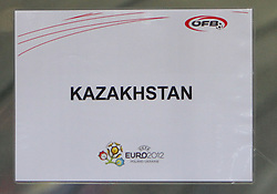 07.09.2010, Red Bull Arena, Salzburg, AUT, UEFA 2012 Qualifier, Austria vs Kazakhstan, im Bild Feature, Tafel KAZAKHSTAN, EXPA Pictures © 2010, PhotoCredit: EXPA/ D. Scharinger / SPORTIDA PHOTO AGENCY