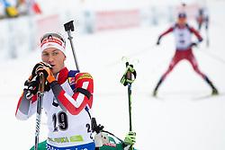 Felix Leitner (AUT) in action during the Pursuit Men 12,5 km at day 8 of IBU Biathlon World Cup 2018/19 Pokljuka, on December 9, 2018 in Rudno polje, Pokljuka, Pokljuka, Slovenia. Photo by Urban Urbanc / Sportida