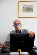 writer Jose Saramago in his house of Lisbon, Portugal , 23 of April of 2008.
