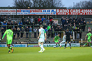 FGR supporters during the EFL Sky Bet League 2 match between Yeovil Town and Forest Green Rovers at Huish Park, Yeovil, England on 24 April 2018. Picture by Shane Healey.