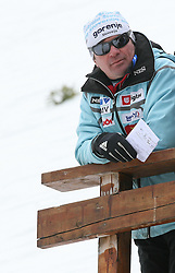 Coach Primoz Triplat at Flying Hill Team in 3rd day of 32nd World Cup Competition of FIS World Cup Ski Jumping Final in Planica, Slovenia, on March 21, 2009. (Photo by Vid Ponikvar / Sportida)