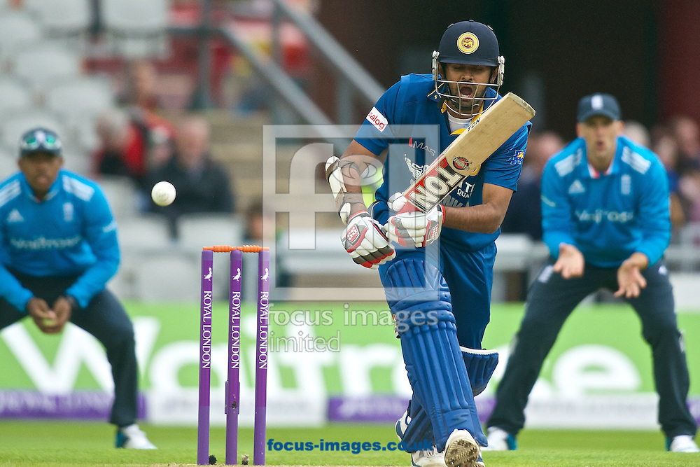 Lahiru Thirimanne of Sri Lanka during the Royal London One Day Series match at Old Trafford Cricket Ground, Stretford<br /> Picture by Ian Wadkins/Focus Images Ltd +44 7877 568959<br /> 28/05/2014