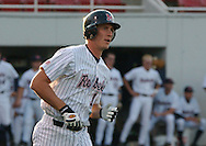 Mississippi's Stephen Head rounds first base after a first inning homer against Memphis at Oxford-University Stadium in Oxford, Miss. Tuesday, April 26, 2005. (AP Photo/Bruce Newman,Oxford Eagle)